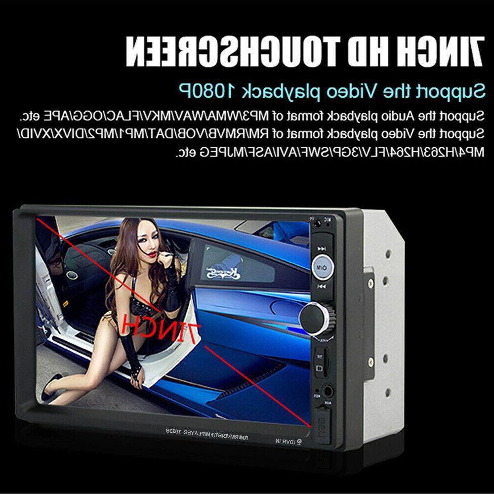 """7"""" Car Radio Touch Screen Mirror SD HD"""