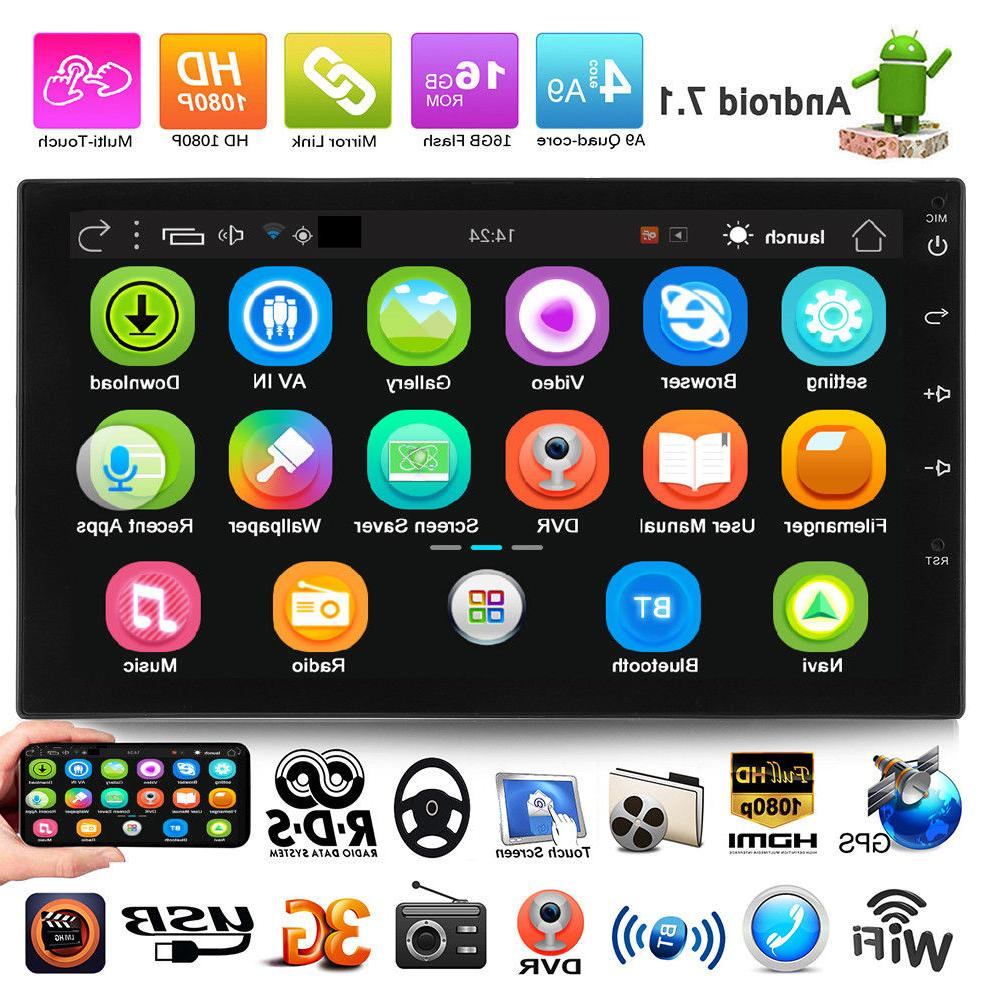 """7"""" Android 7.1 Car Radio Stereo MP5 Quad Core 3G WIFI Double"""