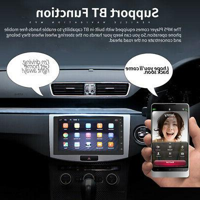 "7"" Android 8.1 WiFi Double 2din Car Radio Stereo Bluetooth No"