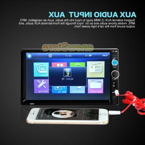 "7"" Bluetooth Touch Double HD Camera"