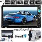 "7"" Bluetooth Touch Screen Double 2Din In dash Car Stereo Rad"