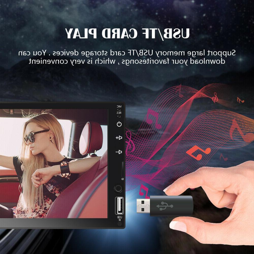 "7"" Radio Carplay Car Stereo Touch Screen Double"