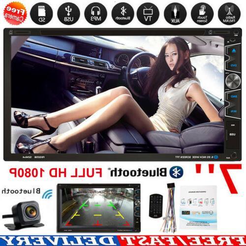 7 car stereo dvd player radio bluetooth