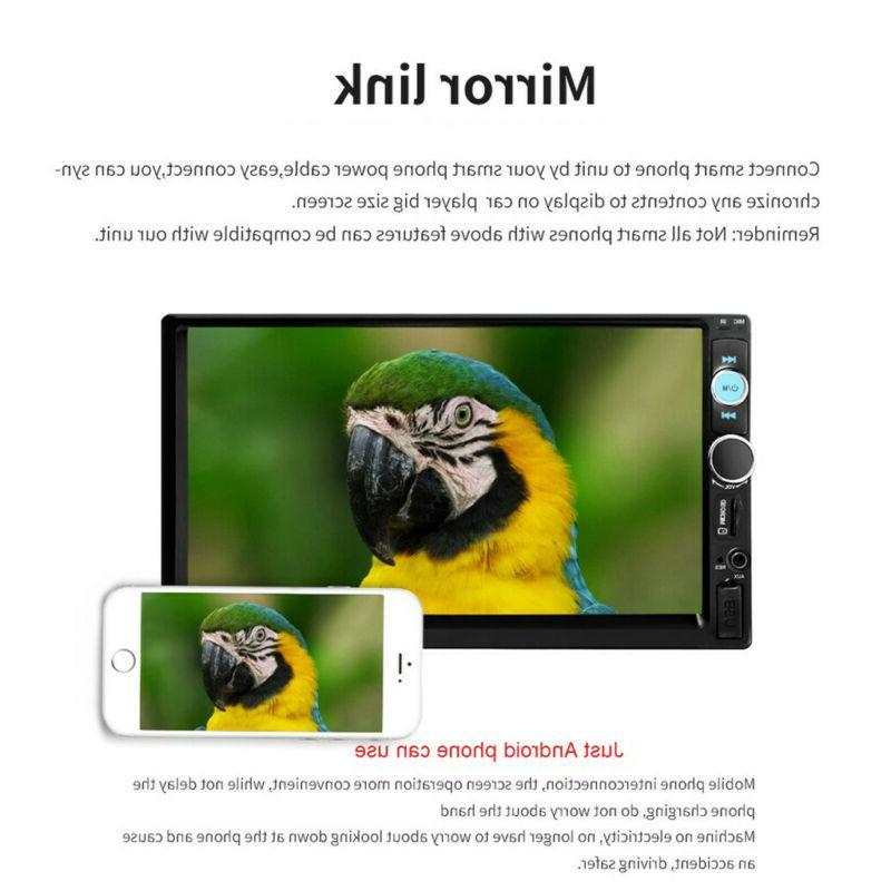 "7"" Car Radio HD Player Touch Screen Radio +Camera"