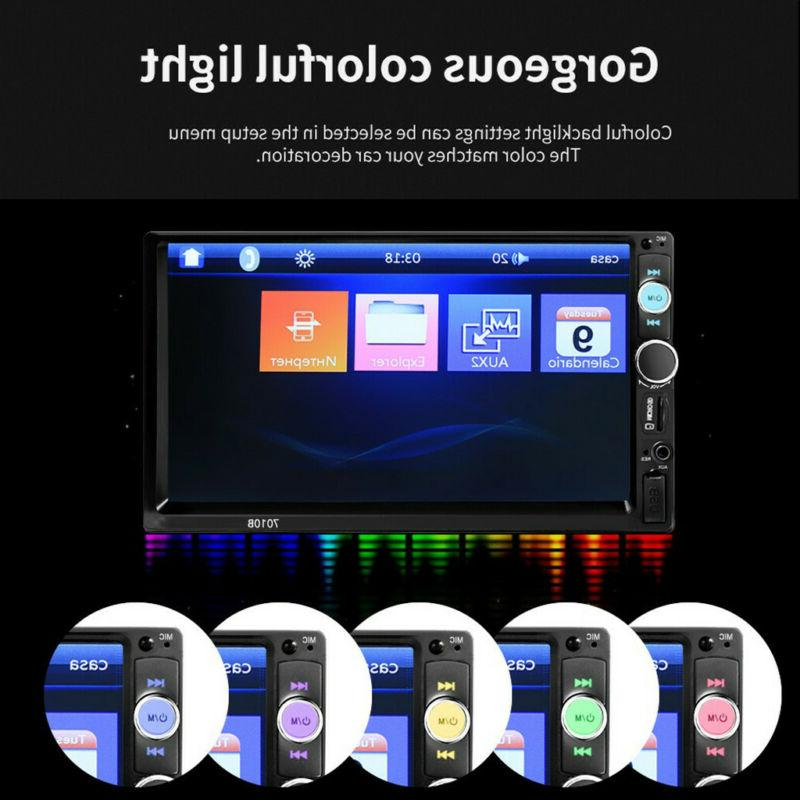 "7"" Stereo Radio HD Player Bluetooth Radio"
