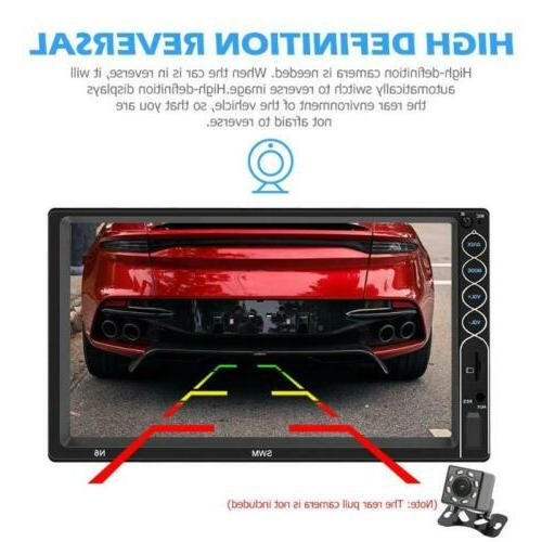 "7"" MP5 FM Player Rear Camera Screen Bluetooth US"