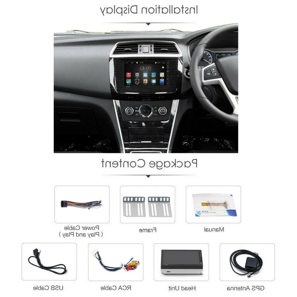 7'' DIN Android 9.1 Car Stereo FM Head Unit