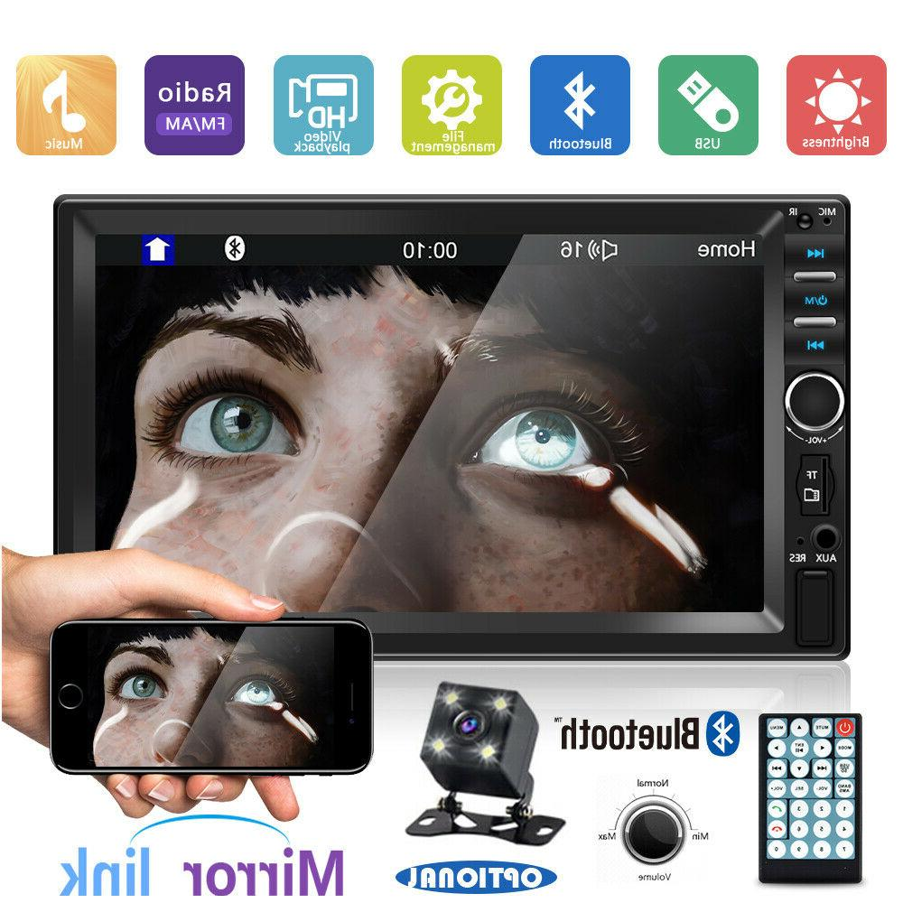 """7"""" 2 DIN Car MP5 Player Touch w/"""