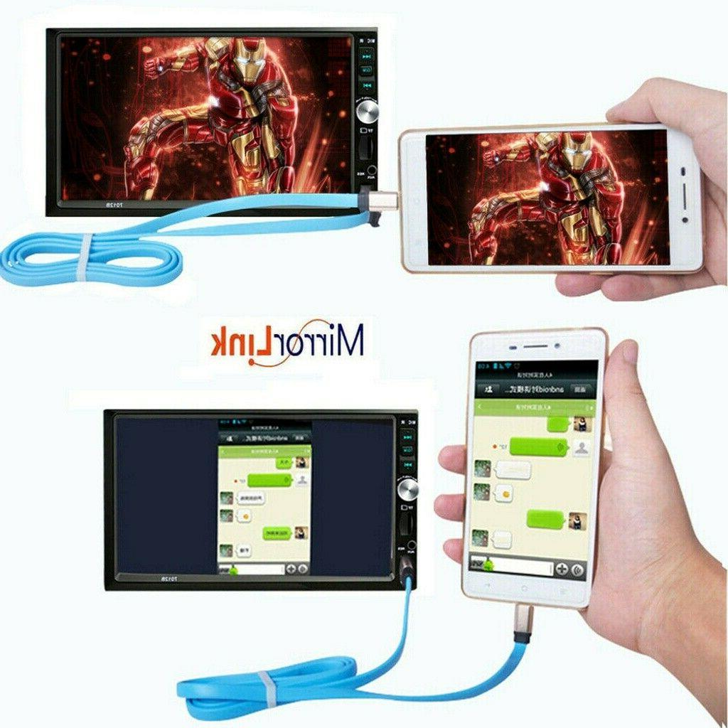 """7"""" Double 2 Car Player Bluetooth Touch Screen"""