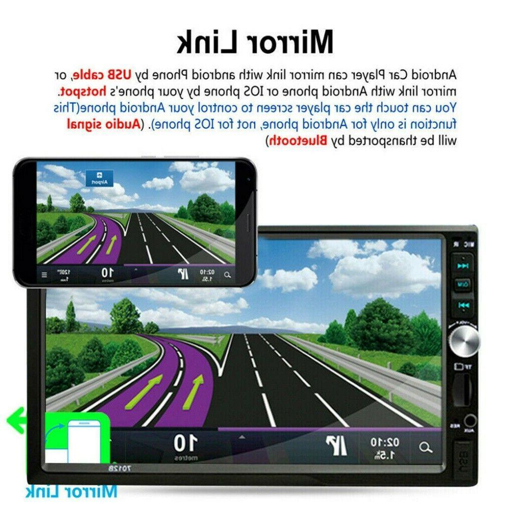 "7"" DIN Car MP5 Touch Radio w/ Camera"