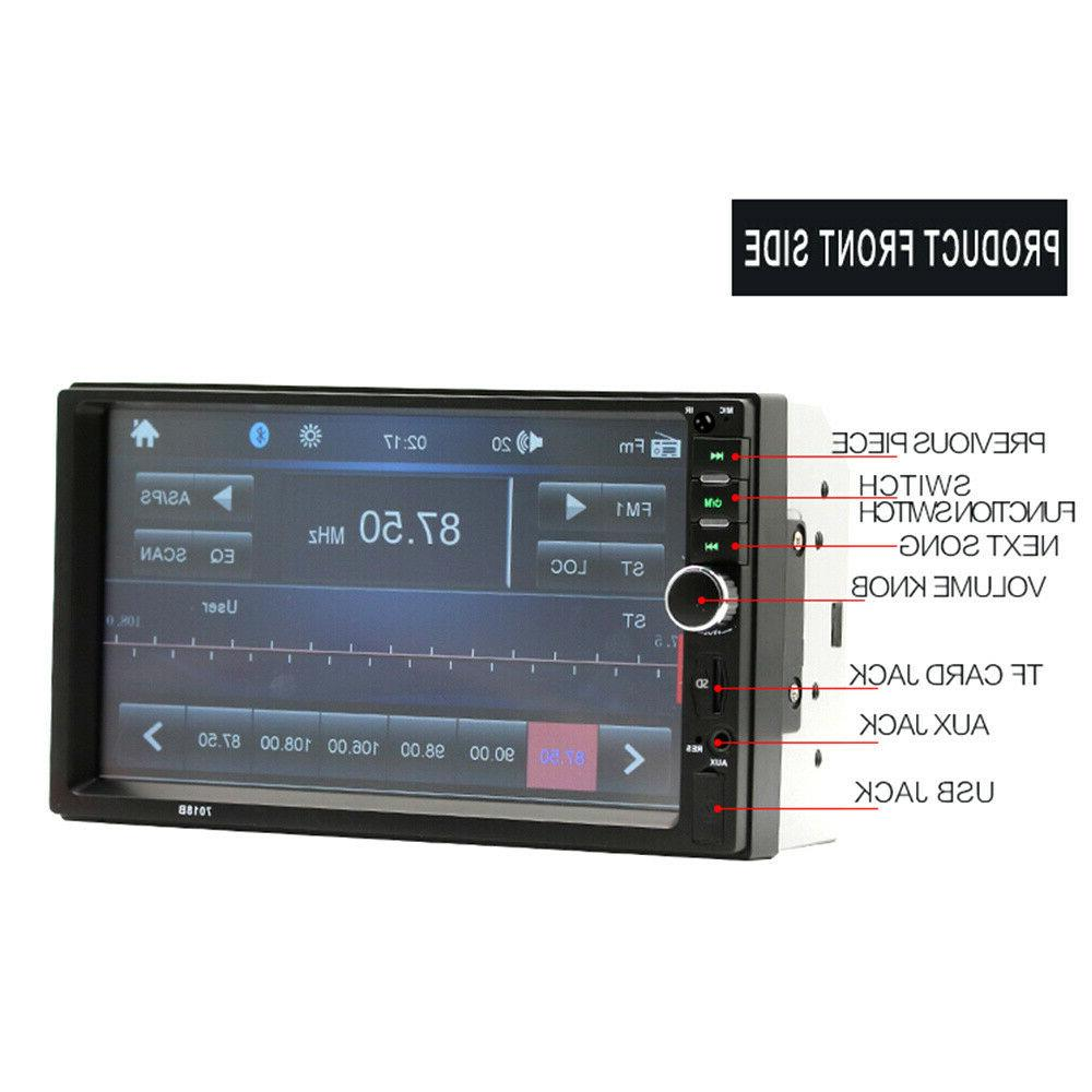 "7"" Double Touch Screen Radio IN MP5"