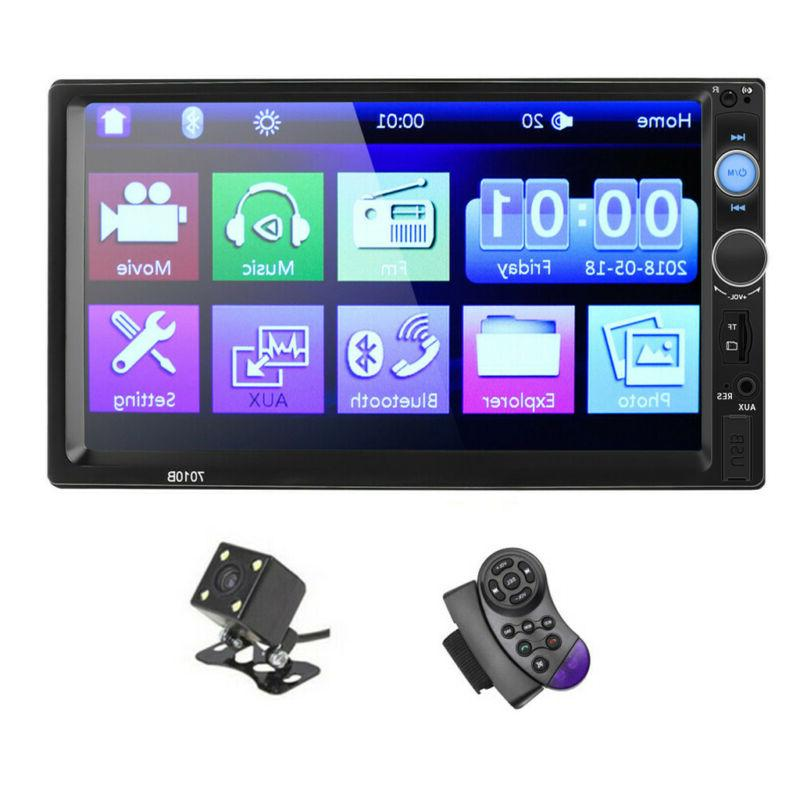 "7"" Double 2DIN MP5 Player Screen Stereo AUX"