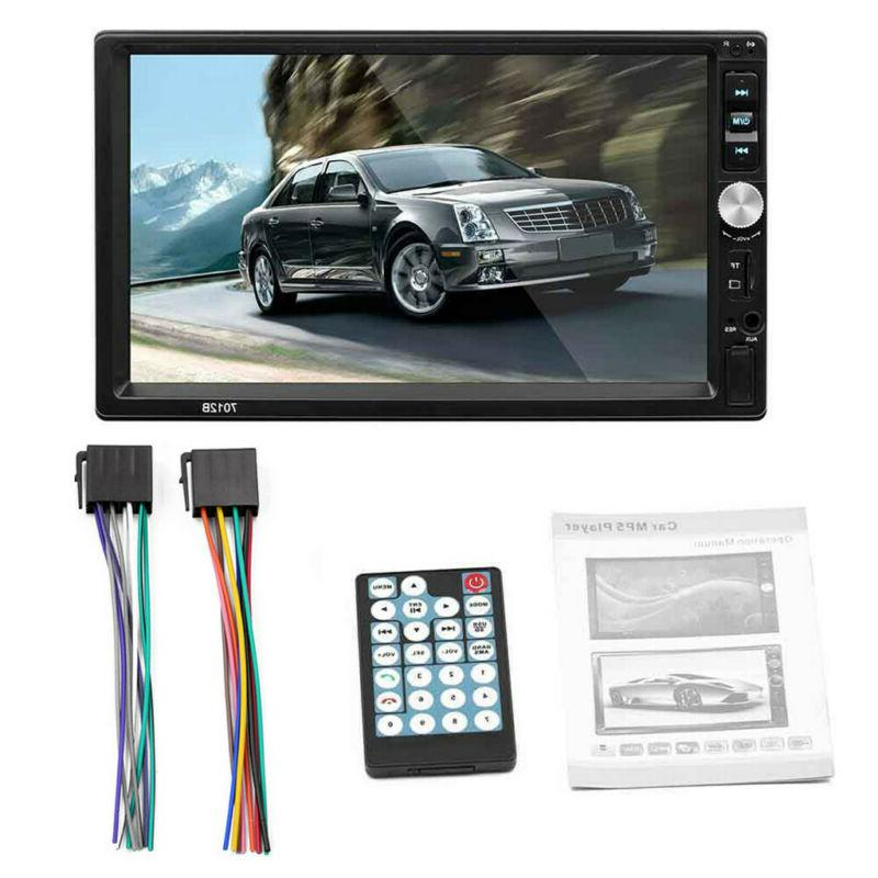 "7"" Double 2DIN Car MP5 Player Screen B1D9"