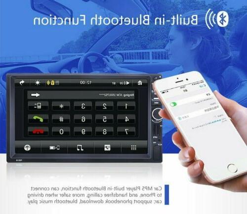 "7"" 2DIN Car Radio Stereo GPS Bluetooth USB/AUX"