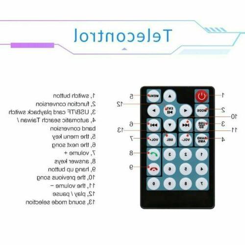 "7"" Double Car Radio Player GPS Bluetooth USB/AUX screen BT"