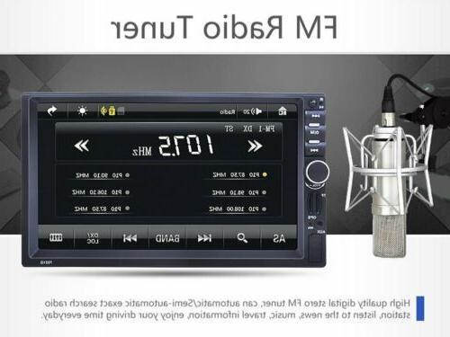 "7"" Double 2DIN Car Radio Stereo DVD GPS Bluetooth USB/AUX screen BT"
