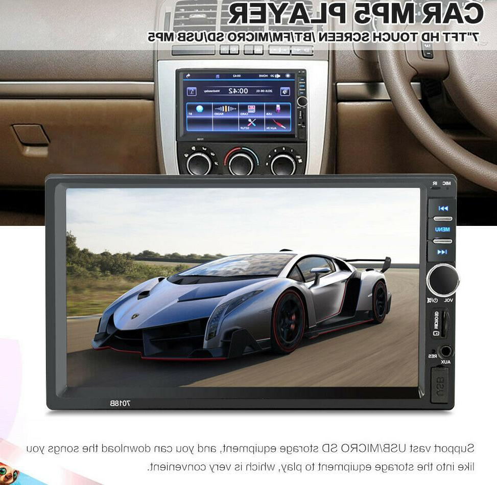 """7"""" Double 7018B 2 DIN Stereo Radio Player Touch"""