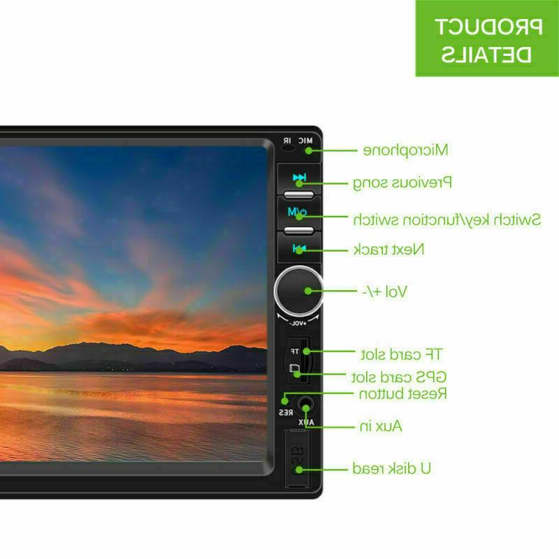 """7"""" Double 2 DIN FM Stereo Touch Screen Bluetooth"""