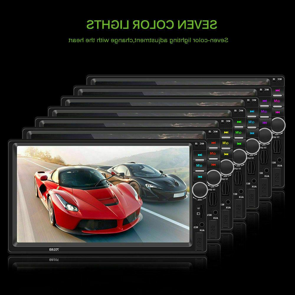 7 Double DIN Car Stereo Touch Screen