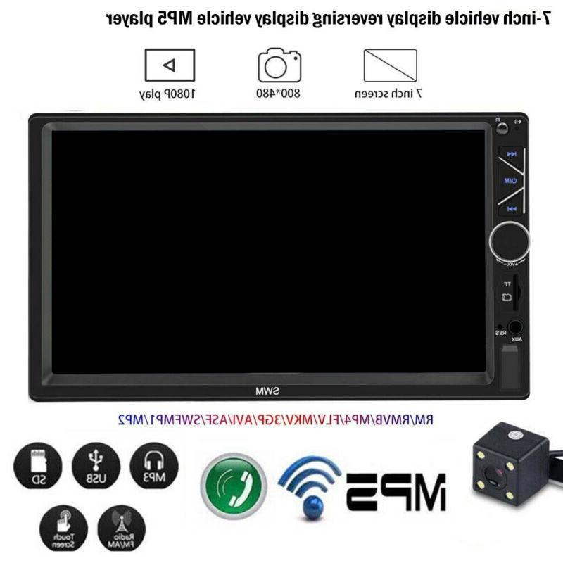 "7"" Car DVD CD Player Bluetooth+Radio Stereo+Steering Wheel"