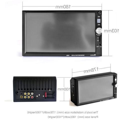 """7""""Double Car Stereo Radio Touch Screen Unit+Camera"""