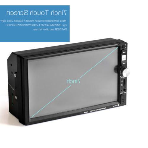 "7""Double DIN Car Radio MP5 Player Screen BT Head"