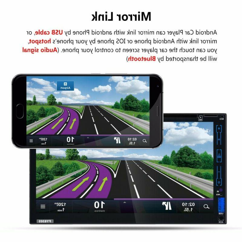 7''HD Screen Car MP5 GPS Radio Android & Rear Parking