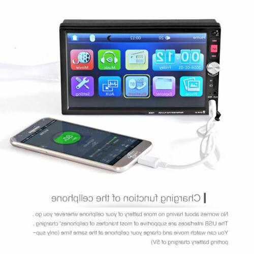 """7"""" HD DIN Radio Stereo MP5 Touch USB"""