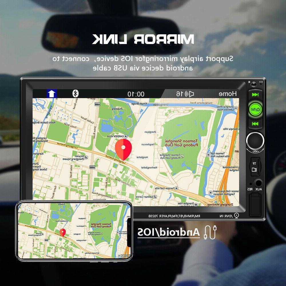 "7"" Inch 2 Car Stereo Radio MP5 FM Screen"