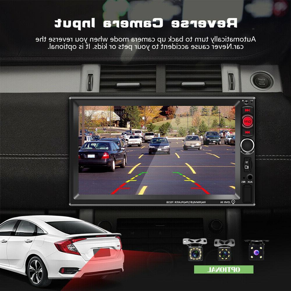"7"" 2 DIN Car Stereo MP5 Player Screen Rear"