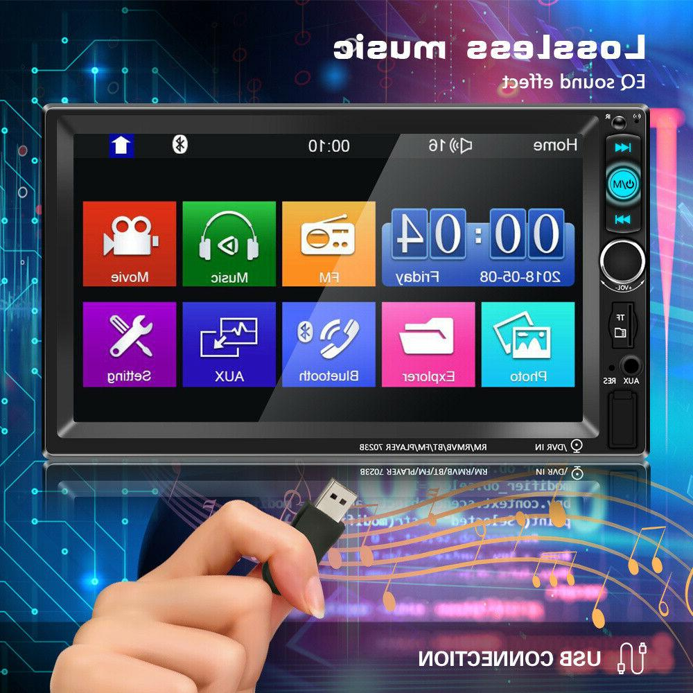 """7"""" 2 Car Stereo Radio MP5 FM Touch Screen +Free"""