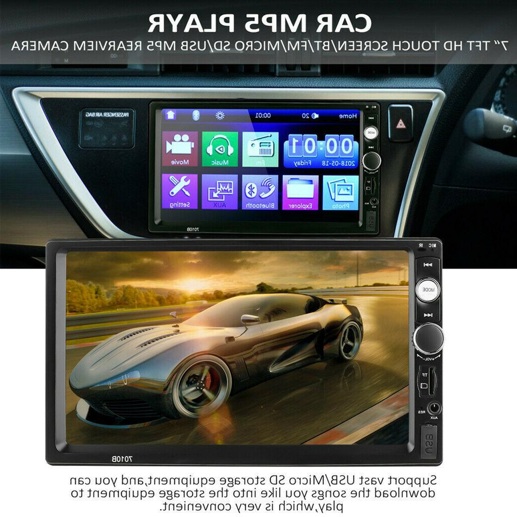 7 Inch 2DIN Car Camera Steering Stereo