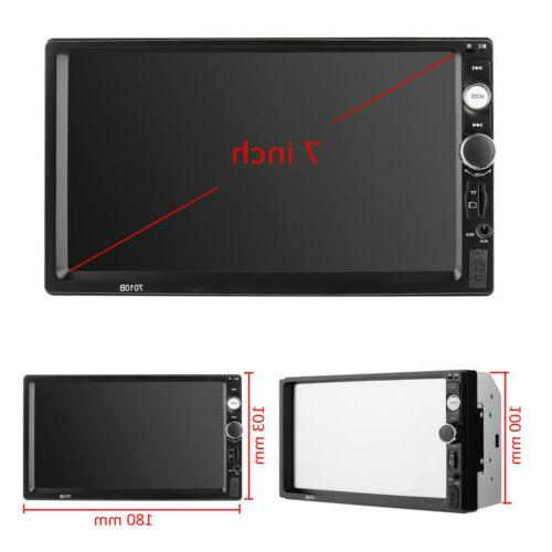 Radio HD Touch Screen Bluetooth 2Din&Camera