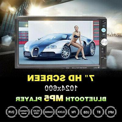 7Inch 2DIN LED Car Stereo Radio HD Mp5 Player Touch Screen B