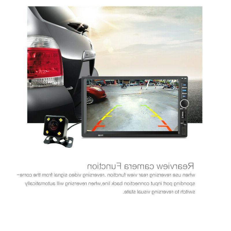 "7"" Mp5 Player Screen Bluetooth Radio Rear Camera"