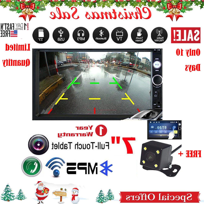 "7"" Mp5 Bluetooth Radio 2din Rear Camera"