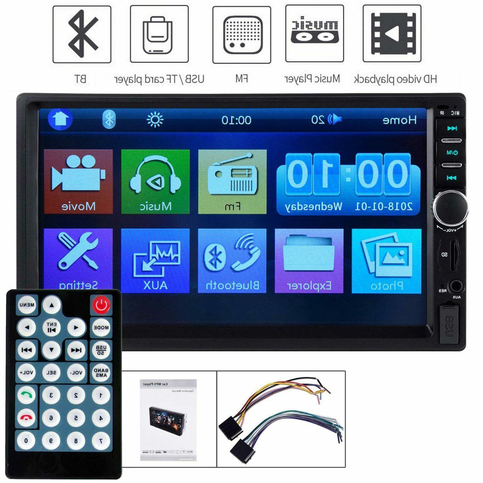 """7"""" Car Radio HD Mp5 Player Touch 2din&Camera"""