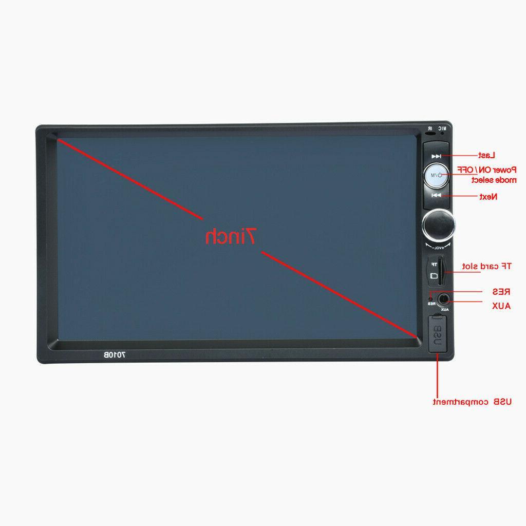 """7"""" Inch Car Radio Player Touch Bluetooth Radio 2din FM US"""