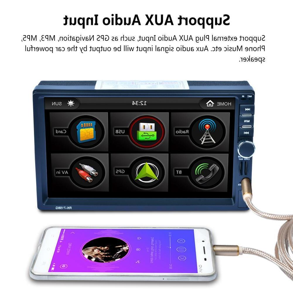 7 Inch Double DIN GPS Bluetooth MP5 Player Universal