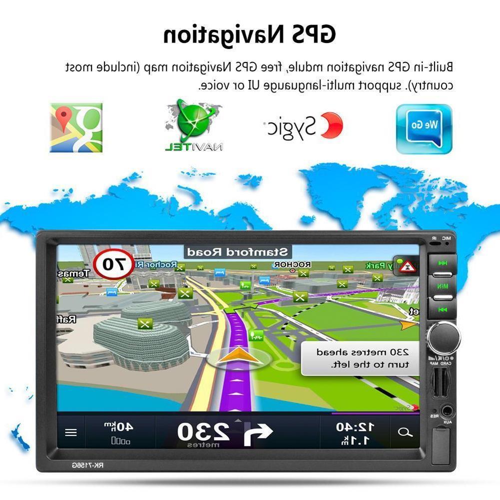 7 2 DIN Bluetooth Stereo Radio MP5 Player Universal