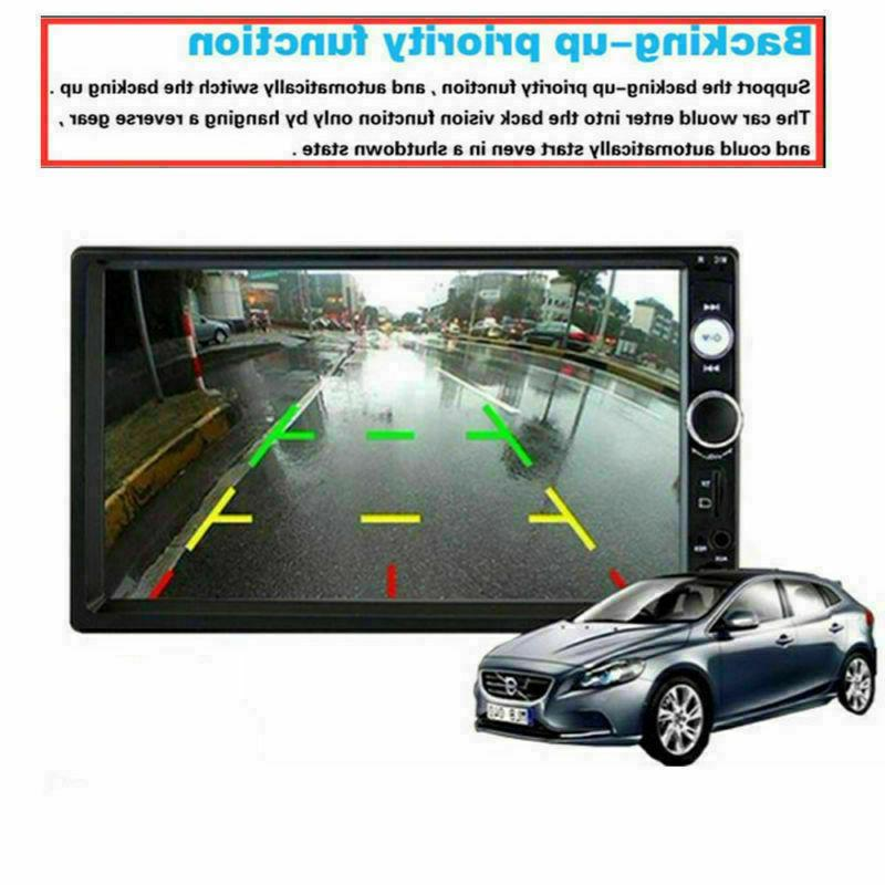 """7"""" inch Double Car Player Bluetooth Touch Screen Stereo FM SD AUX"""