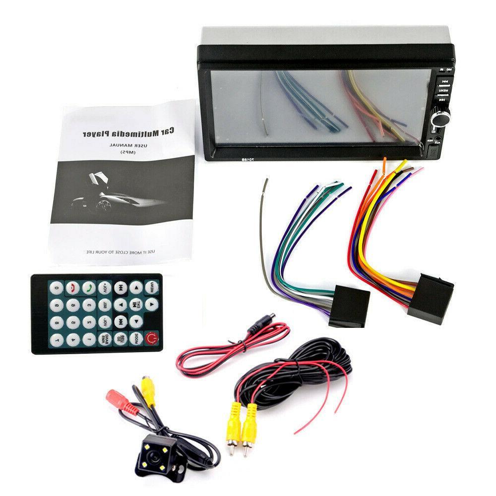 "7"" inch DIN Car Player Bluetooth Screen Stereo Radio +"