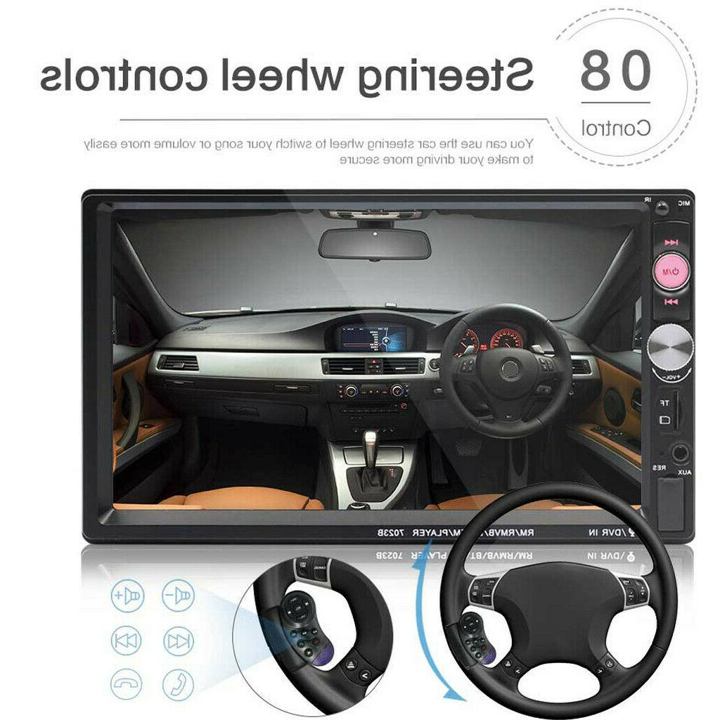 7Inch Double DIN Car FM Stereo Radio MP5 Blue-tooth