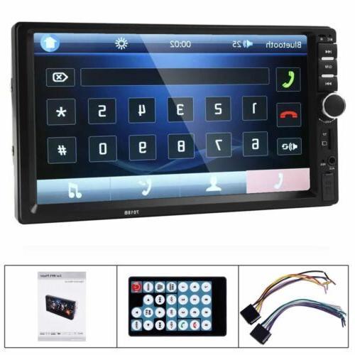 Car Radio Bluetooth Audio Receiver Din Touch Screen USB AUX