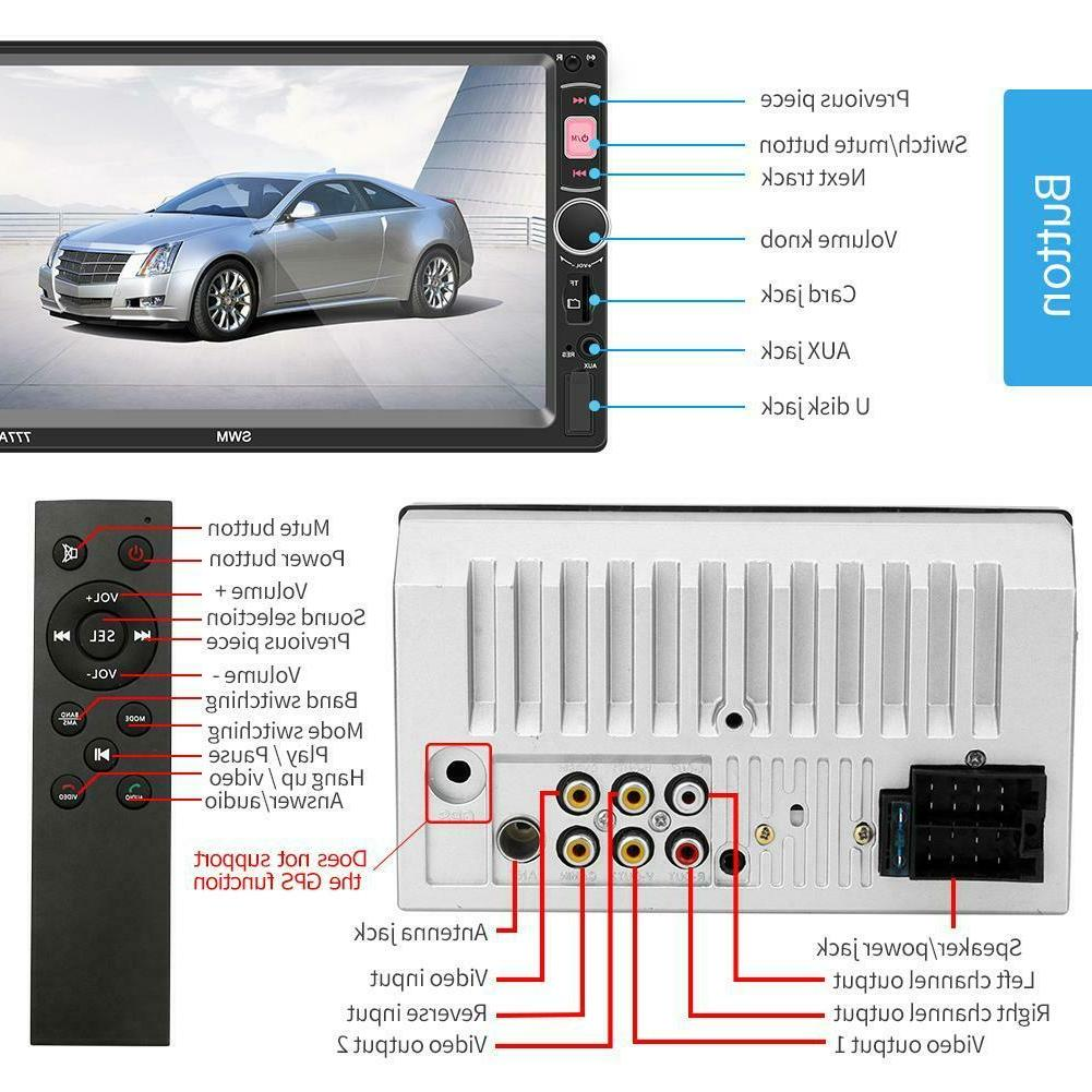 7 Inch Touch 2Din Car MP5 Disk Bluetooth