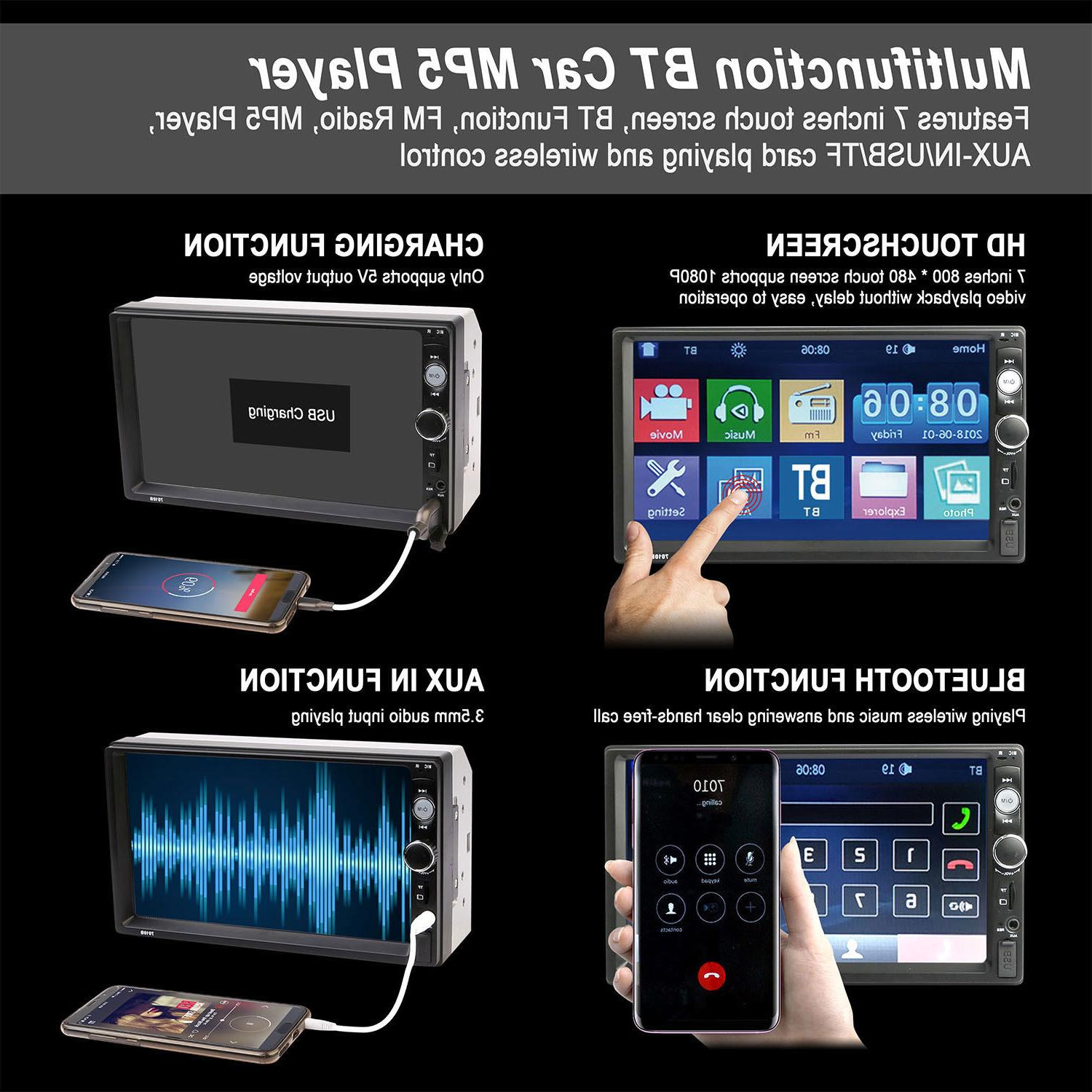 "7"" Radio HD Touch Screen 2din"