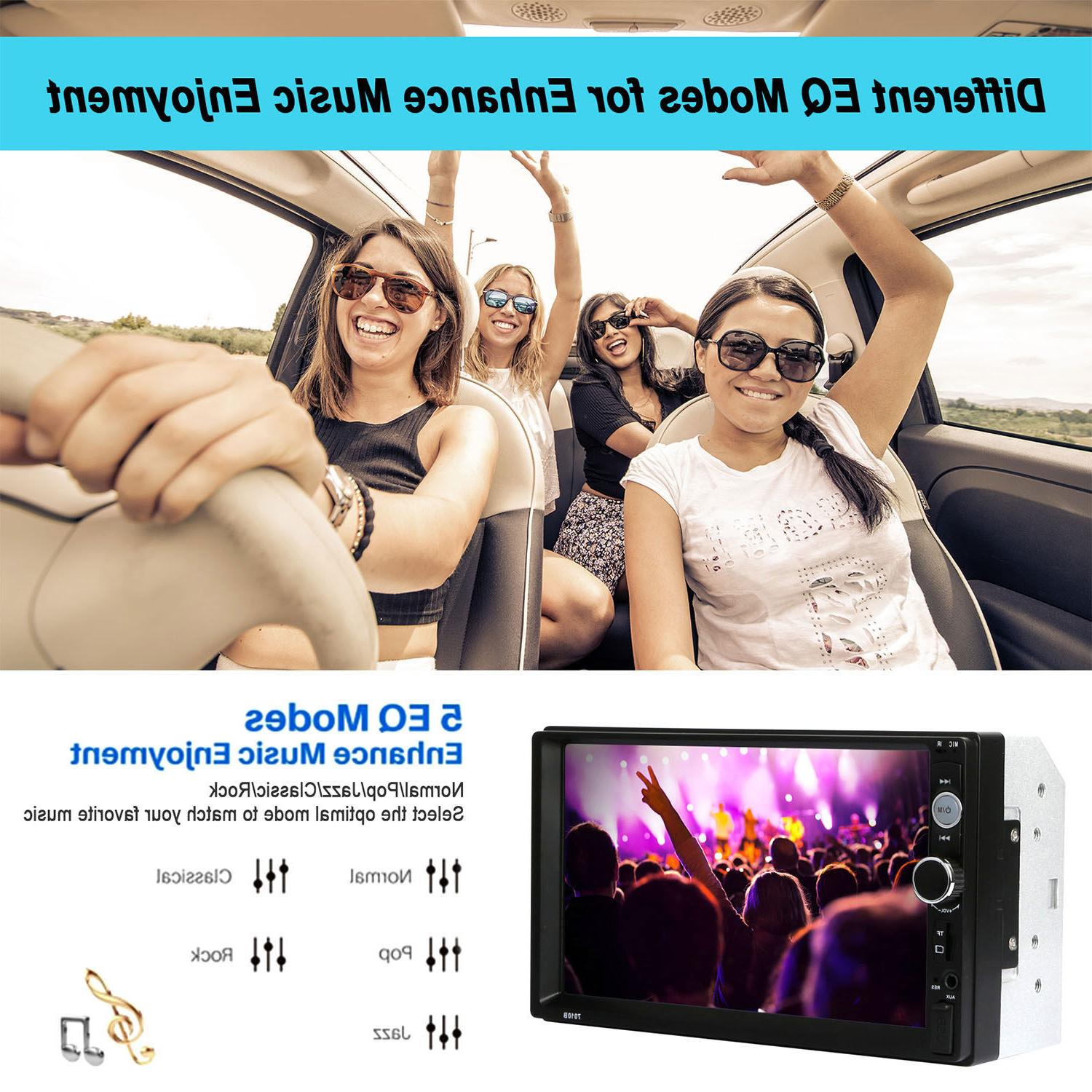 "7"" Inch Car Stereo Radio Touch Bluetooth Radio 2din FM"