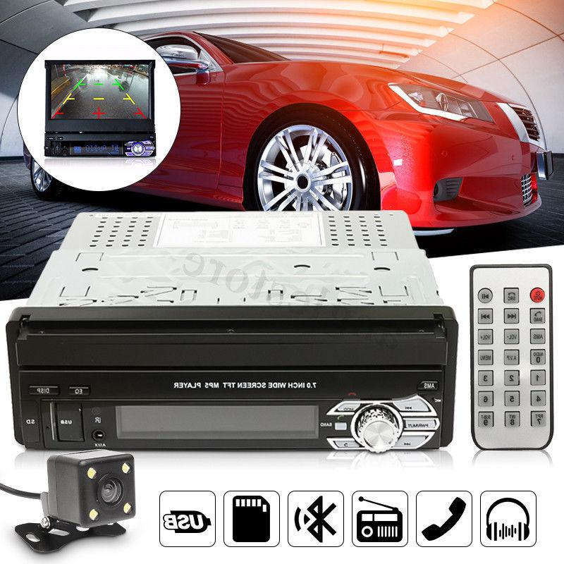 7'' Touch Screen 1 DIN Car Bluetooth Radio FM Music Video Pl