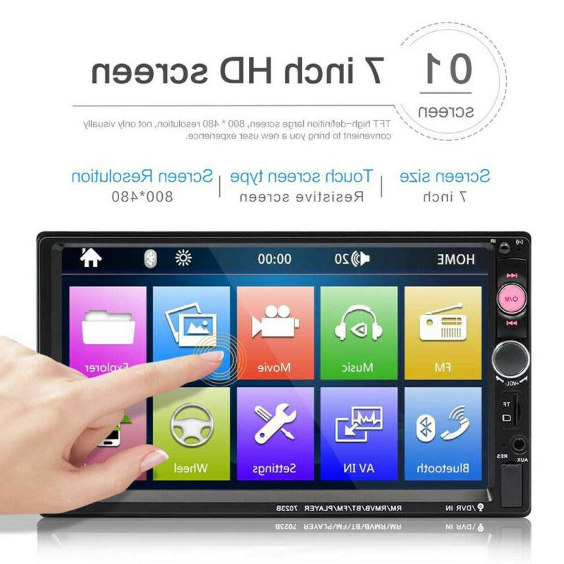 "7"" Stereo Radio Player Touch Screen Radio 2DIN"