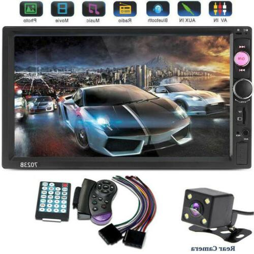 7inch double din bluetooth lcd receiver touch